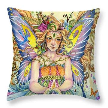 Danielle Throw Pillow by Sara Burrier