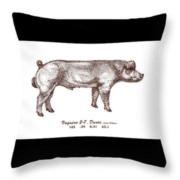 Danish Duroc Throw Pillow