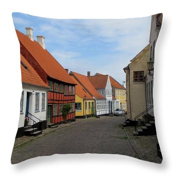 Danish Village Throw Pillow