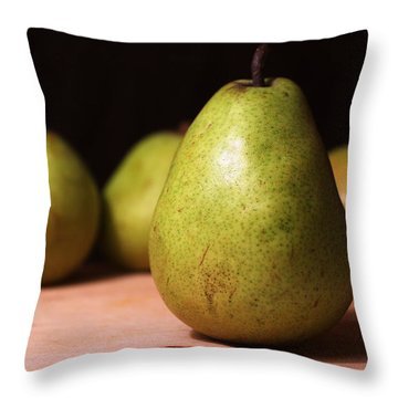 D'anjou Pears Throw Pillow