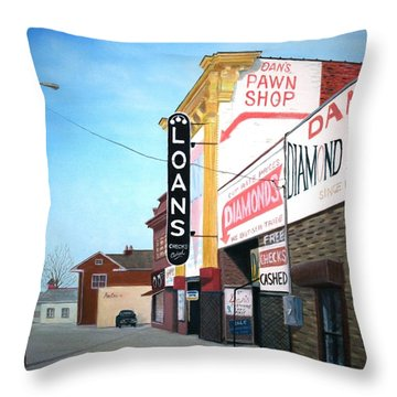 Dan's Throw Pillow