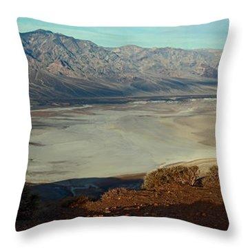 Dante's View Panorama Throw Pillow by David Salter