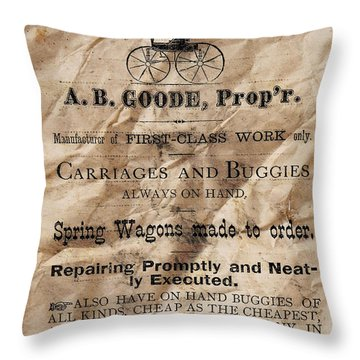 Danville Carriage Works Throw Pillow