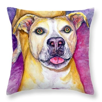 Daphne Throw Pillow by Ashley Kujan