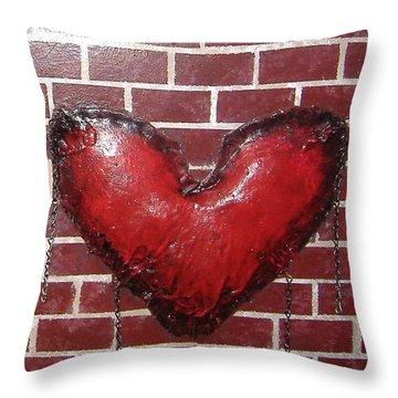 Daphnes Heart Throw Pillow by Steve  Hester