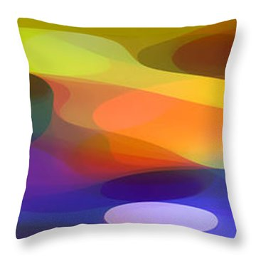 Dappled Light Panoramic 1 Throw Pillow by Amy Vangsgard