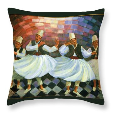 Daraweesh Dancing Throw Pillow