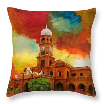 Darbar Mahal Throw Pillow by Catf