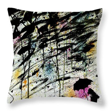 Throw Pillow featuring the painting Dare 2 B Different by Oddball Art Co by Lizzy Love