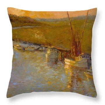 Shem Creek Throw Pillows