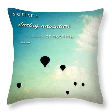 Throw Pillow featuring the photograph Daring Adventure Hot Air Balloons by Eleanor Abramson