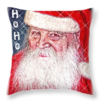 Darius Merry Christmas Throw Pillow by Randall Branham