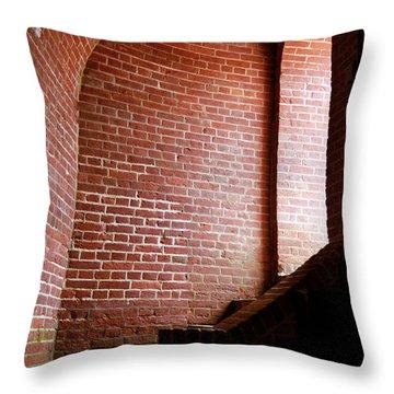 Dark Brick Passageway Throw Pillow by Frank Romeo