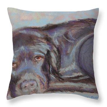 Dark Chocolate Throw Pillow by Carol Berning