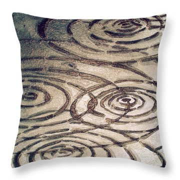 Dark Chocolate Ripples Throw Pillow