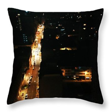 Dark City Night Santiago Throw Pillow