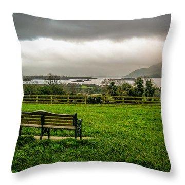 Dark Clouds Over Killarney Lakes Throw Pillow
