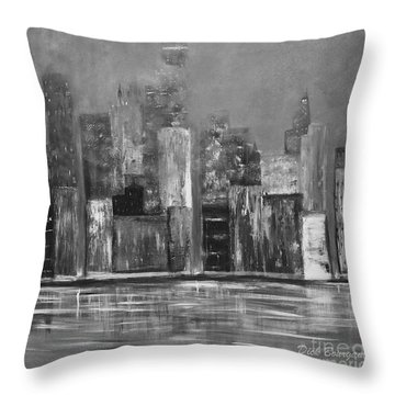 Dark Clouds Over The City Throw Pillow