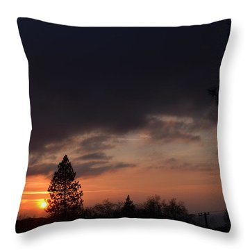 Dark Clouds Throw Pillow by Tom Mansfield