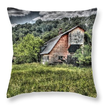 Dark Days For The Farm Throw Pillow