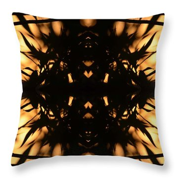 Dark Flame Of Nature Throw Pillow