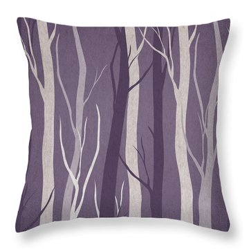 Dark Forest Throw Pillow by Aged Pixel