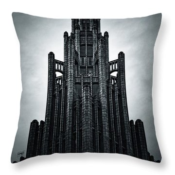 Dark Grandeur Throw Pillow by Andrew Paranavitana