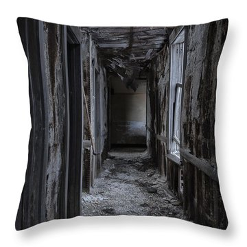 Dark Halls Throw Pillow by Margie Hurwich