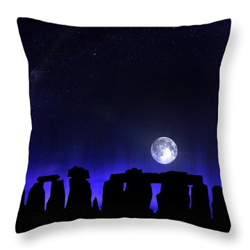 Throw Pillow featuring the digital art Dark Henge by Mark Taylor