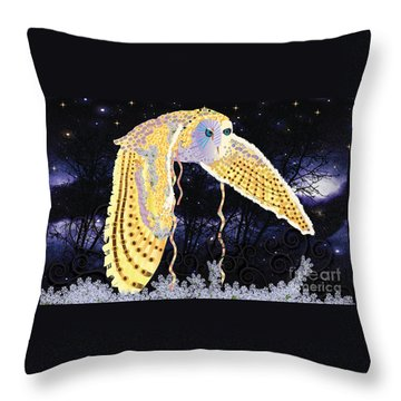Dark Kindred Owl Throw Pillow