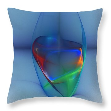 Dark Matter And Gravity Waves Revealed Throw Pillow by David Lane