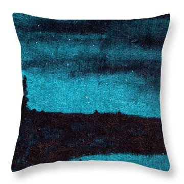 Dark Of The Moon Throw Pillow by R Kyllo