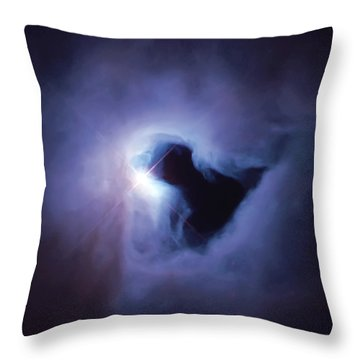 Dark Nebula Cloud  Throw Pillow by Jennifer Rondinelli Reilly - Fine Art Photography
