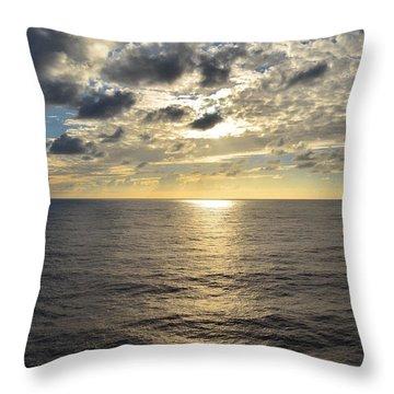 Dark Ocean Sunset 2 Throw Pillow