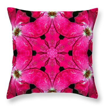 Dark Pink Splendor Mandala Throw Pillow