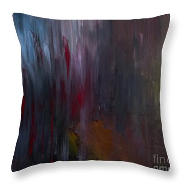 Dark Rain Throw Pillow