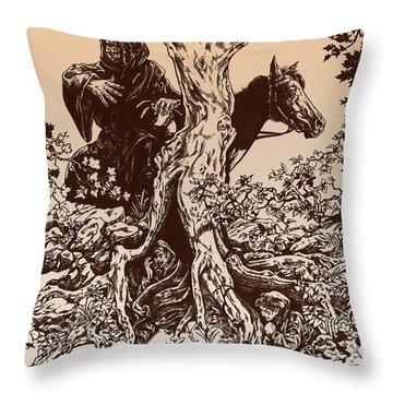 Dark Rider-tolkien Appreciation Throw Pillow by Derrick Higgins
