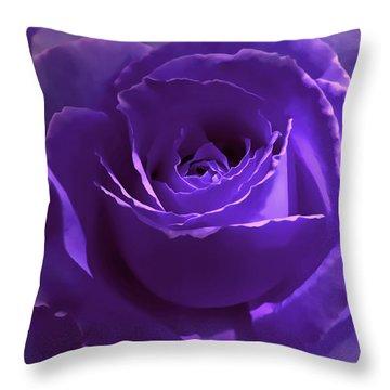 Dark Secrets Purple Rose Throw Pillow