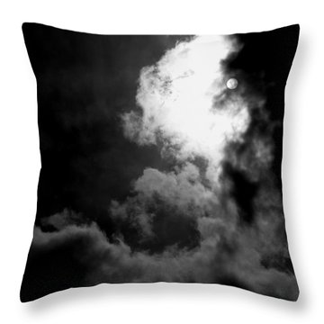 Dark Side Of The Sun Throw Pillow by Vicki Spindler