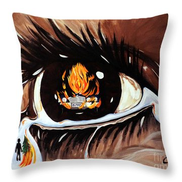 Dark Sorrow  Throw Pillow by Jackie Carpenter
