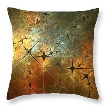Dark Star Grid Throw Pillow