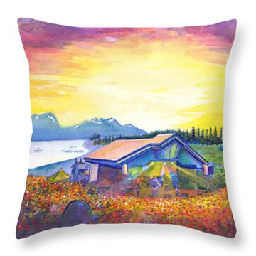 Dark Star Orchestra Dillon Amphitheater Throw Pillow by David Sockrider