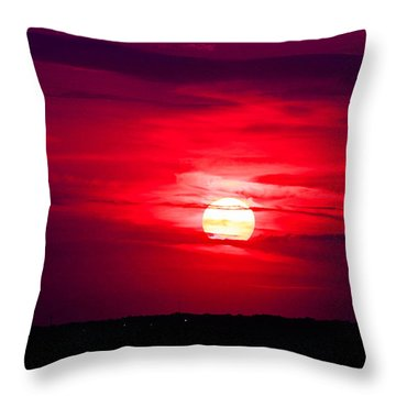 Dark Sunset Throw Pillow by Julie Andel