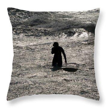Throw Pillow featuring the photograph Dark Surf by Tara Lynn