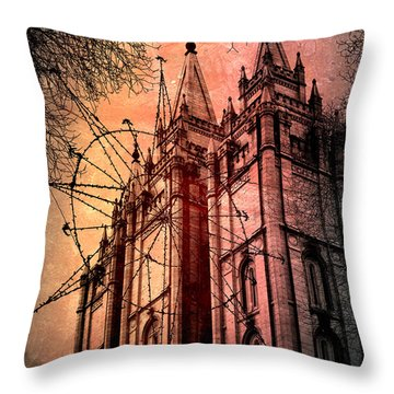 Throw Pillow featuring the photograph Dark Temple by Jim Hill