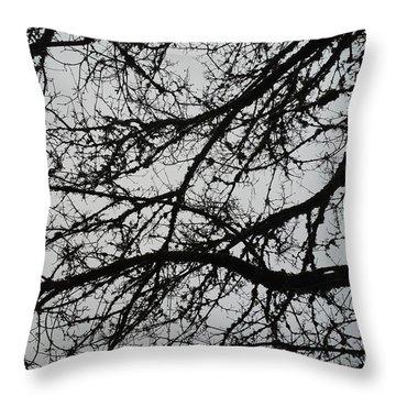 Dark Veins Throw Pillow