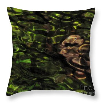 Dark Watery Green Throw Pillow