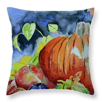 Throw Pillow featuring the painting Darkening by Beverley Harper Tinsley