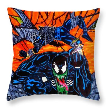 Darkhawk Issue 13 Homage Throw Pillow by Justin Moore