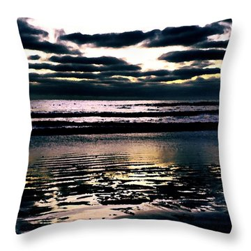 Darkness Can Only Be Scattered By Light Throw Pillow by Sharon Soberon